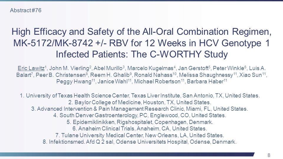 29 OverallGT 2GT 3 42/4722/2320/24 SVR12 (%) Lawitz E, et al. Abstract #LB-4, AASLD 2013