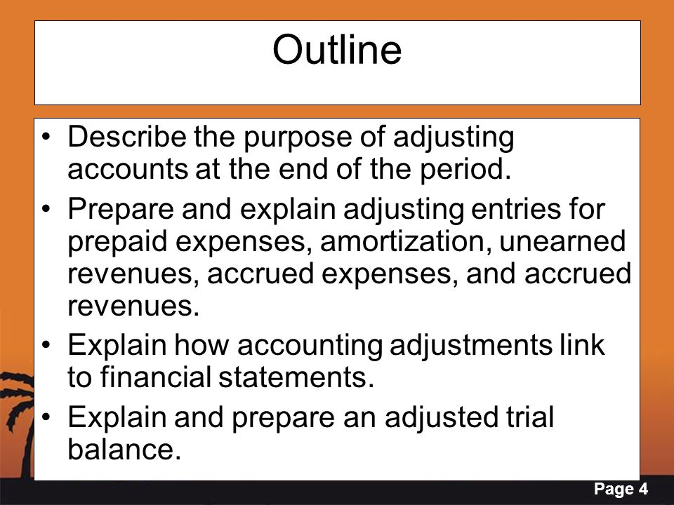 Page 15 Adjusting Entries – Accrued Unrecorded expenses incurred End of accounting period.