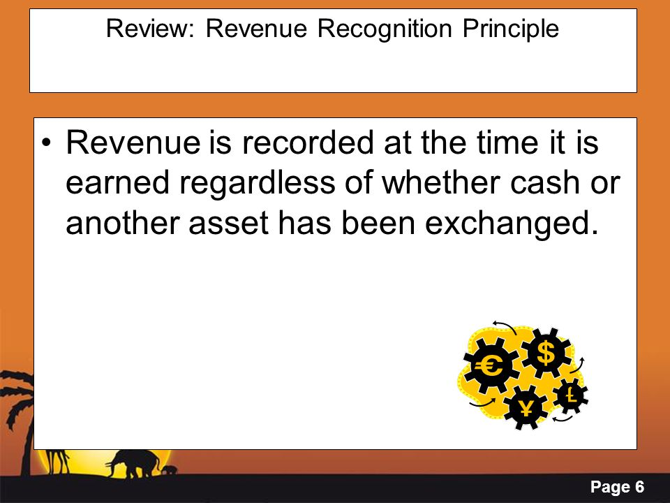 Page 7 Review: Matching Principle Expenses are to be matched in the same accounting period as the revenues they helped to earn.