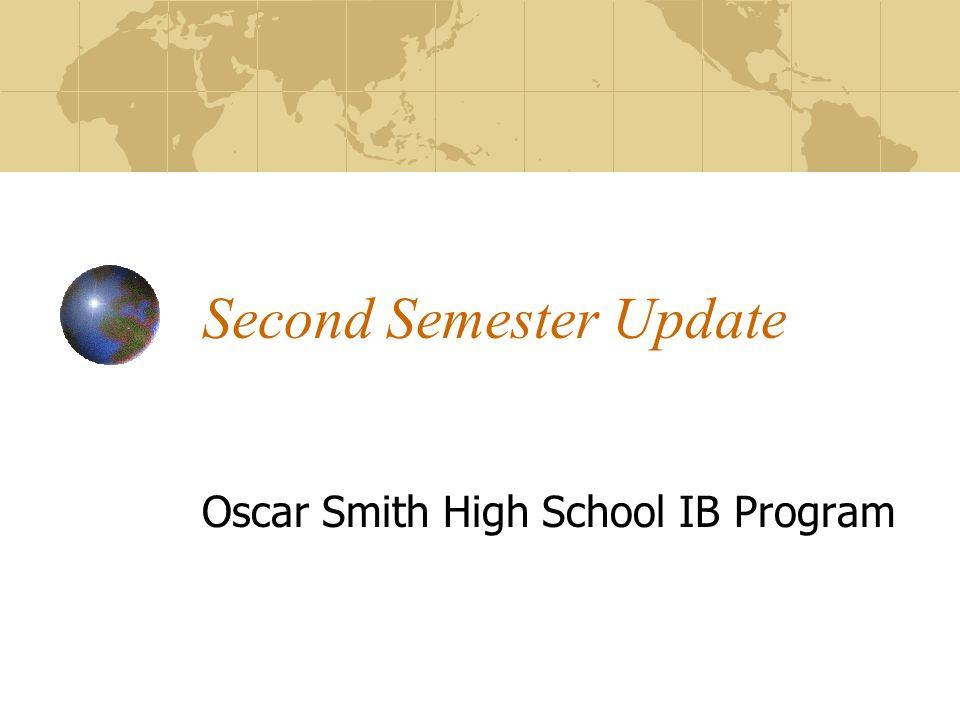 Second Semester Update Oscar Smith High School IB Program