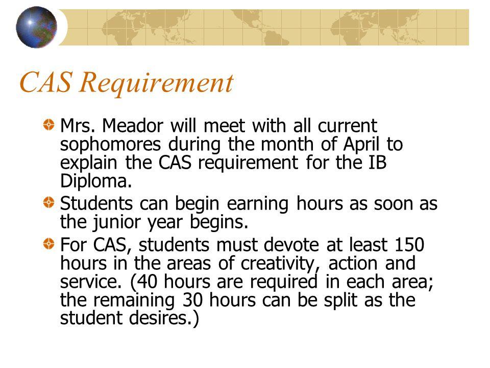 CAS Requirement Mrs.