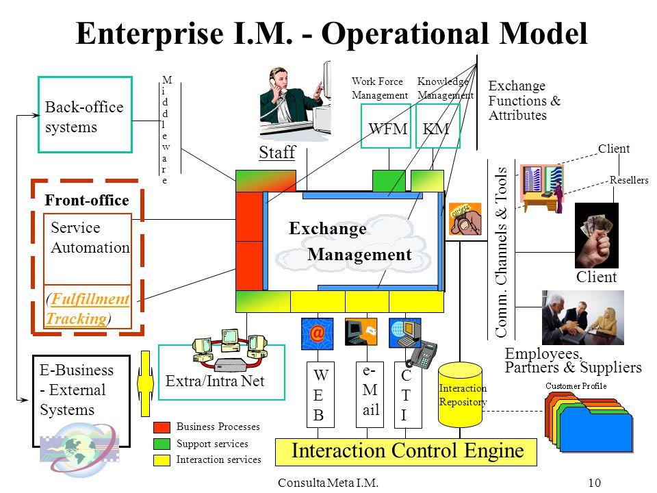 Consulta Meta I.M.10 Enterprise I.M. - Operational Model Client Comm.