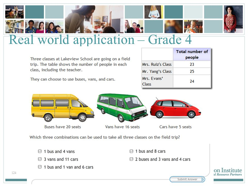 124 Real world application – Grade 4