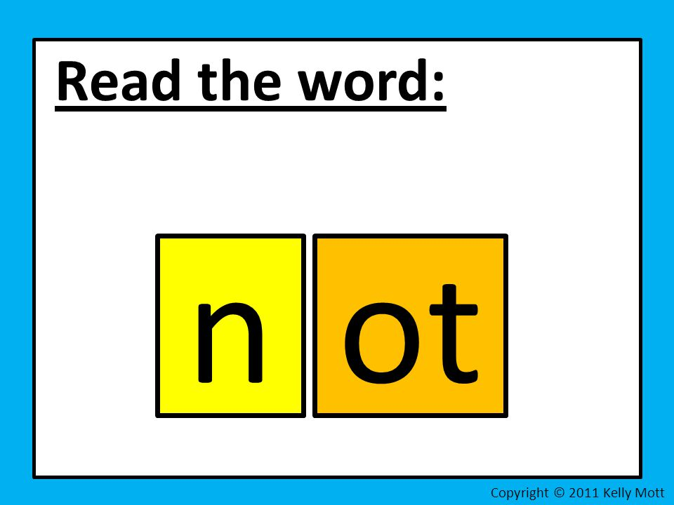 Read the word: Copyright © 2011 Kelly Mott got