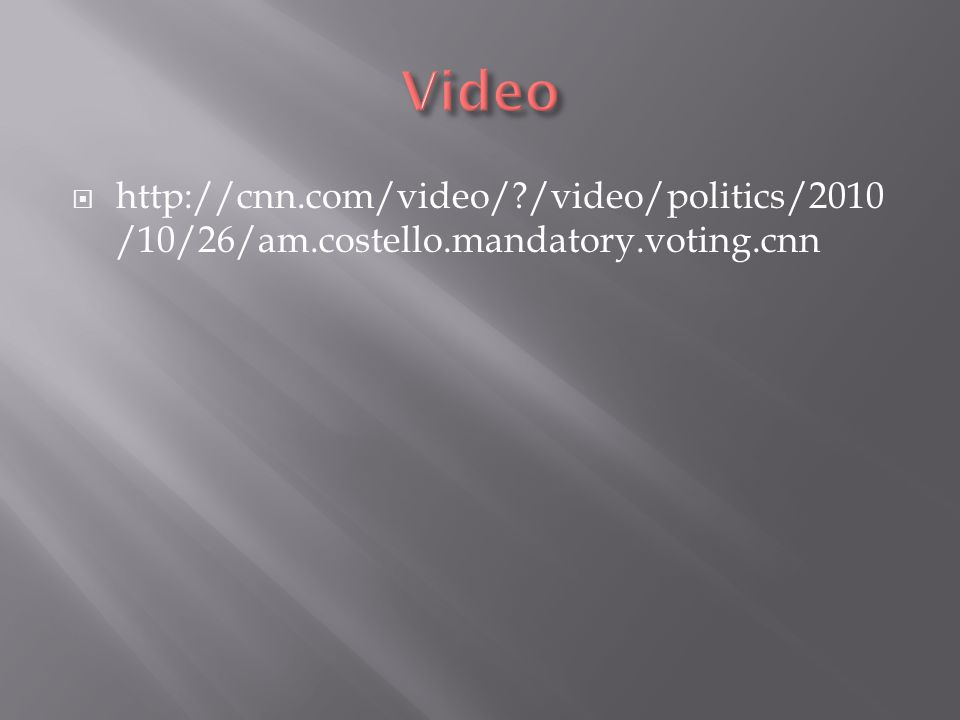    /video/politics/2010 /10/26/am.costello.mandatory.voting.cnn