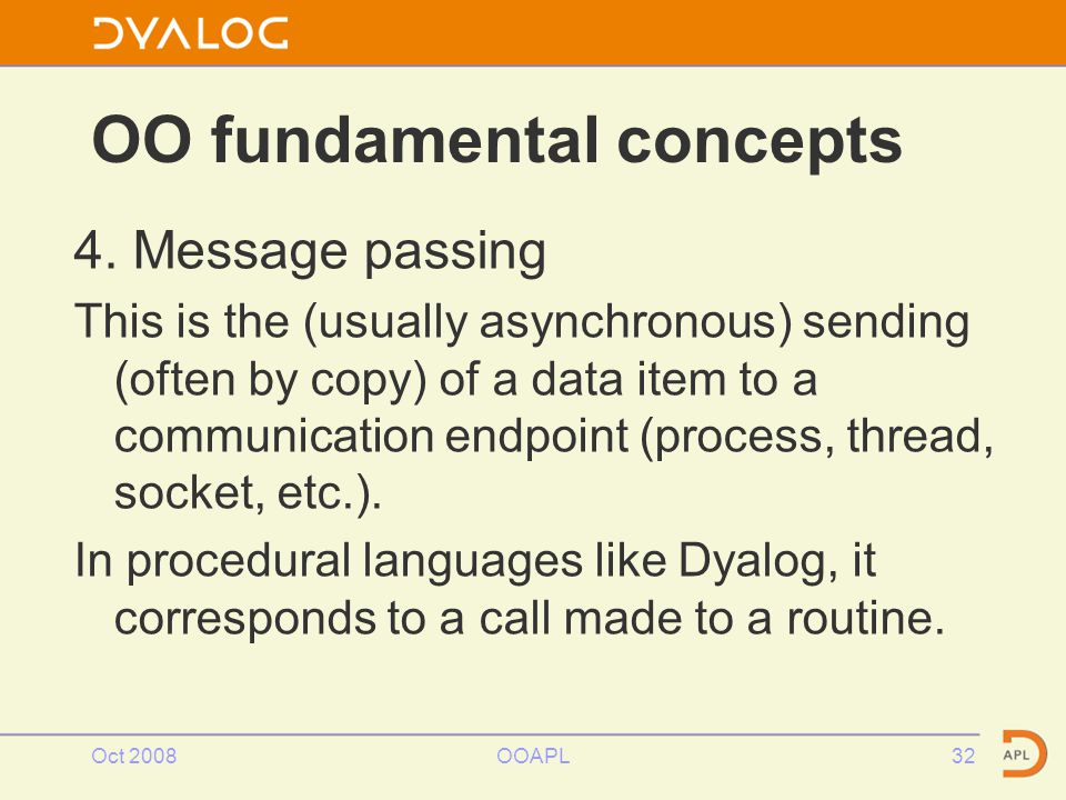 Oct 2008OOAPL32 OO fundamental concepts 4.