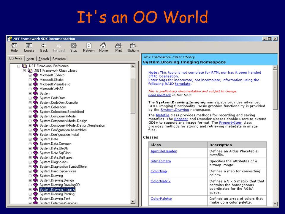 It's an OO World