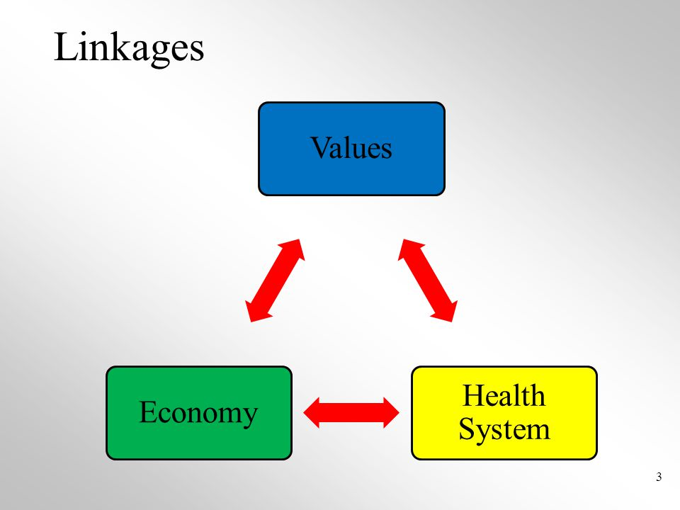 Linkages Values Health System Economy 3
