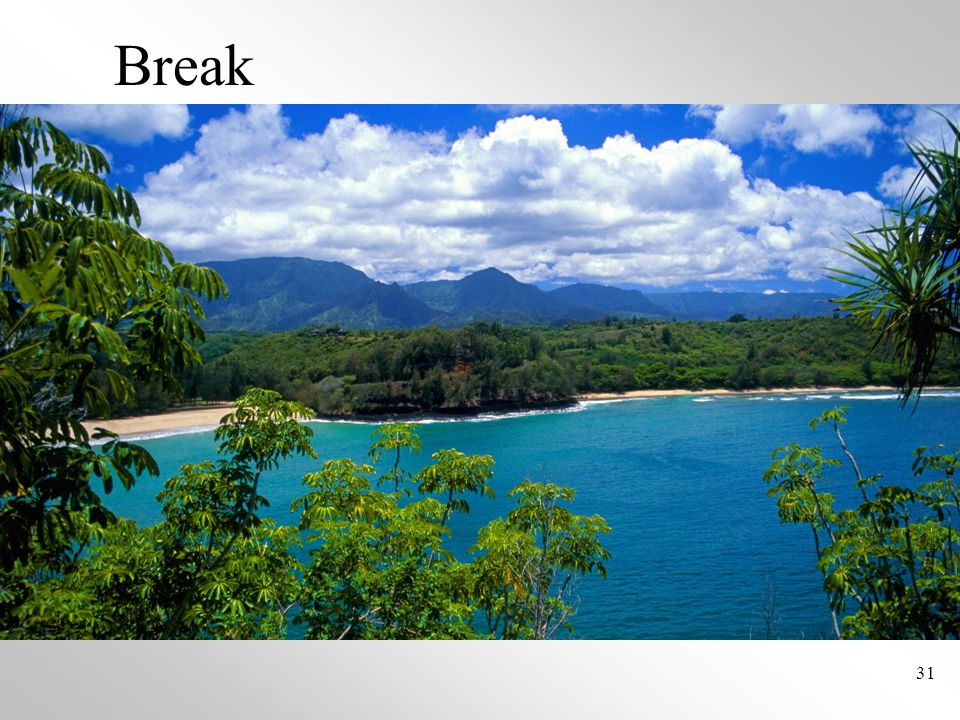 31 Break