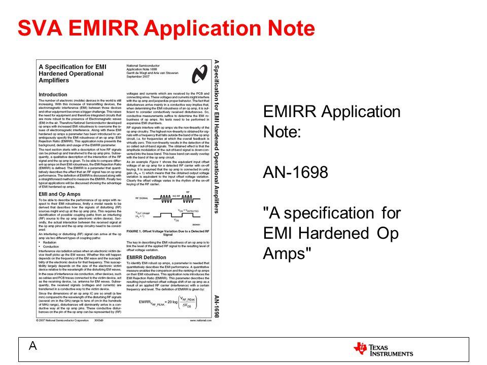 SVA EMIRR Application Note EMIRR Application Note: AN-1698