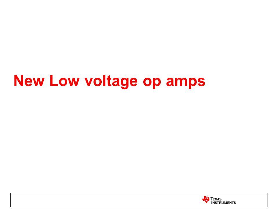 New Low voltage op amps