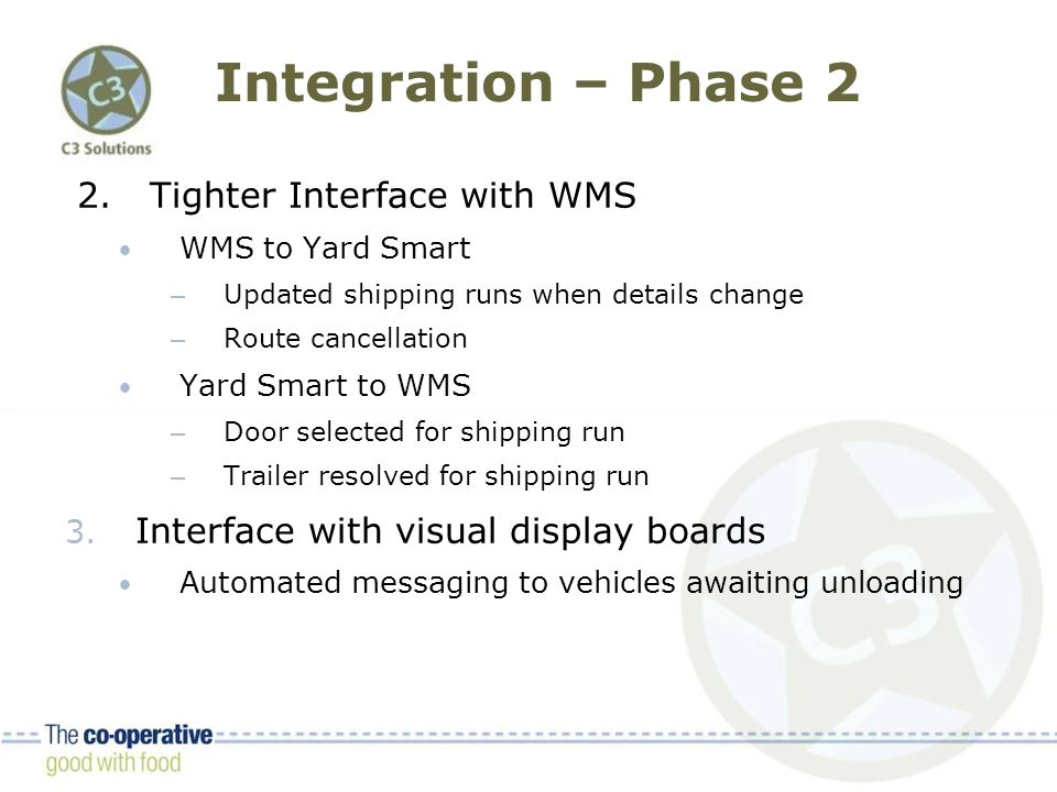 Integration – Phase 2 2.