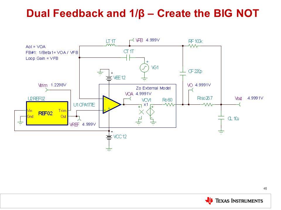 45 Dual Feedback and 1/β – Create the BIG NOT