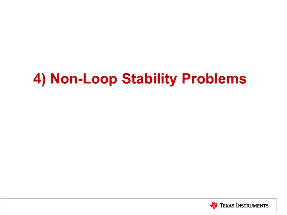 4) Non-Loop Stability Problems