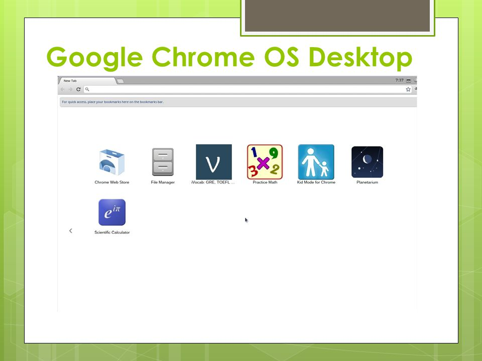 Google Chrome OS Desktop
