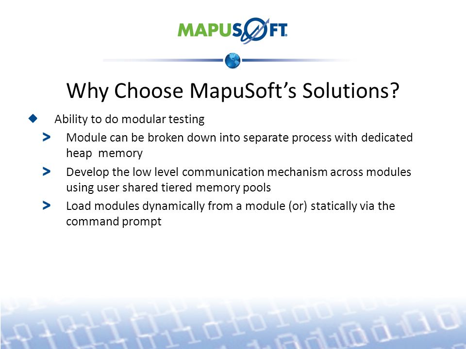 Why Choose MapuSoft's Solutions.