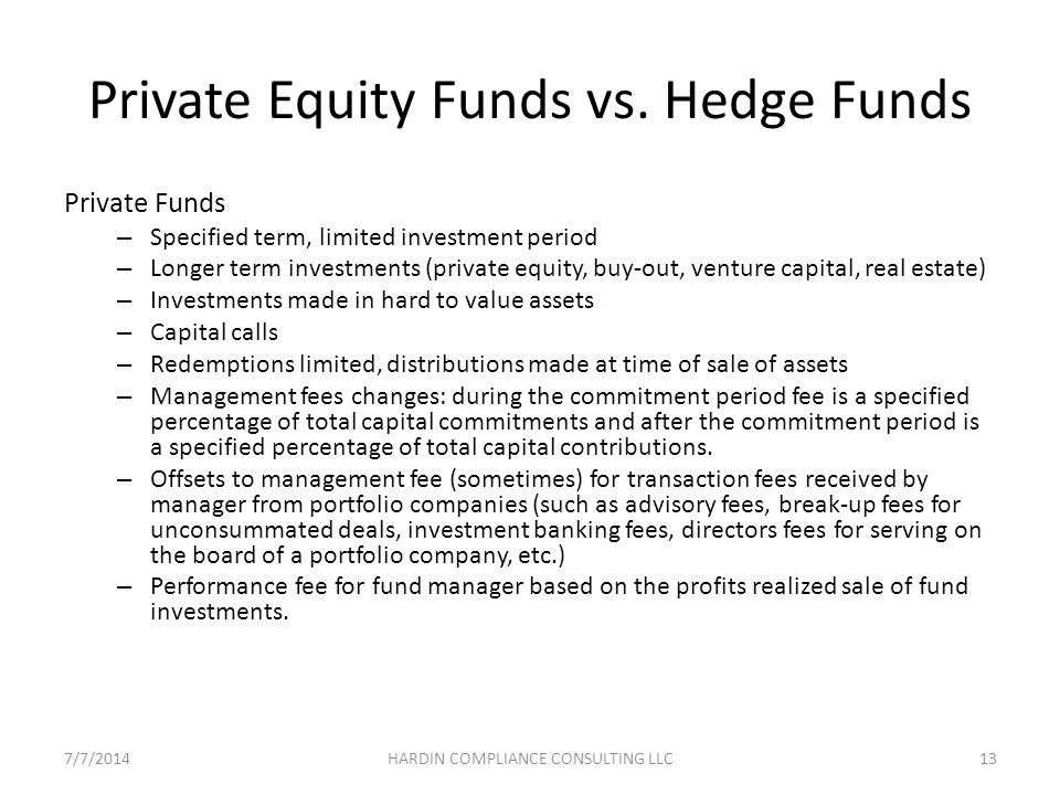 Private Equity Funds vs.