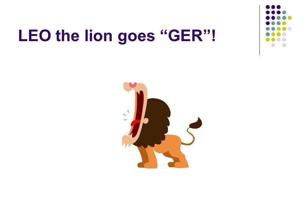 """LEO the lion goes """"GER""""!"""