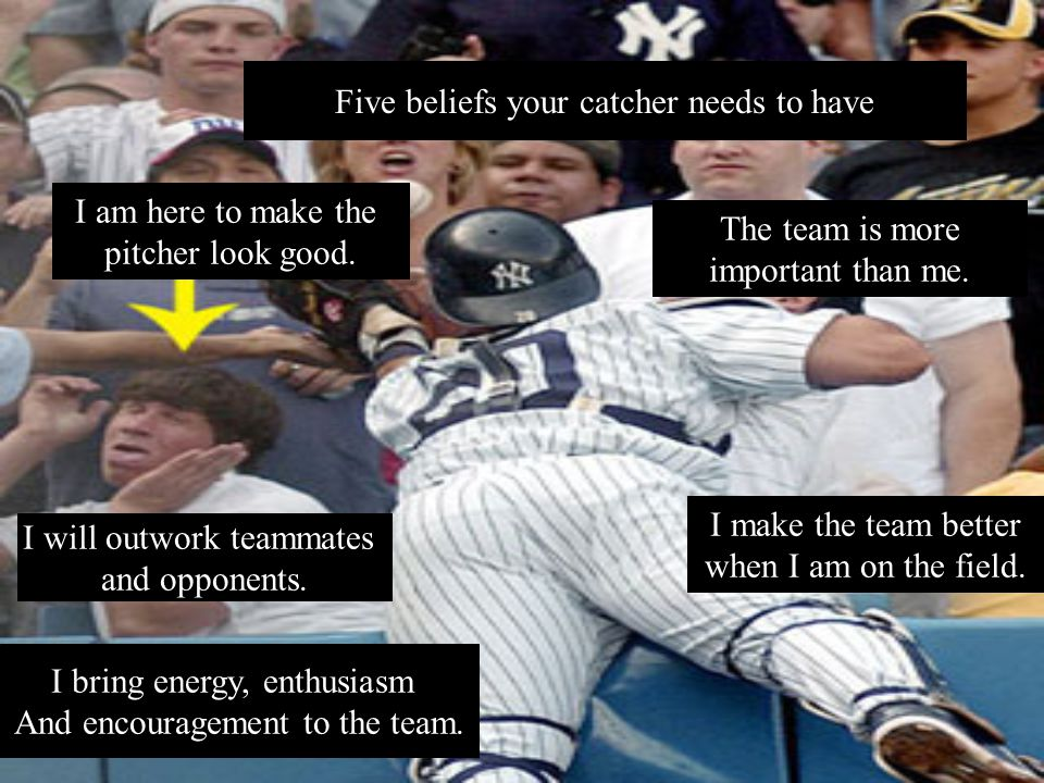 Five beliefs your catcher needs to have I am here to make the pitcher look good.