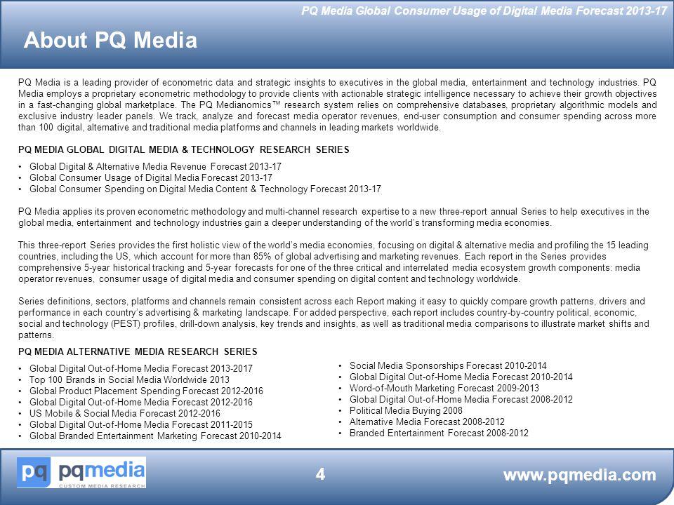 PQ Media Global Consumer Usage of Digital Media Forecast 2013-17 www.pqmedia.com 35 Digital Media Subscriptions: Tablet & e-Reader Data Access