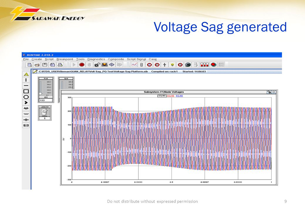 Voltage Sag generated 9Do not distribute without expressed permission