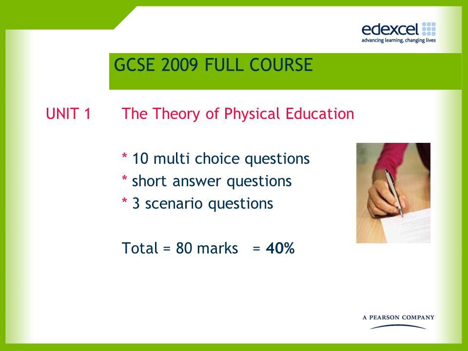 GCSE PE 2009 FULL COURSE UNIT 2.1.