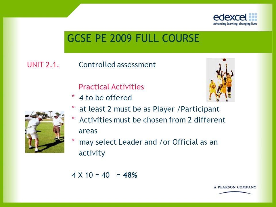 GCSE PE 2009 FULL COURSE UNIT 2.2.