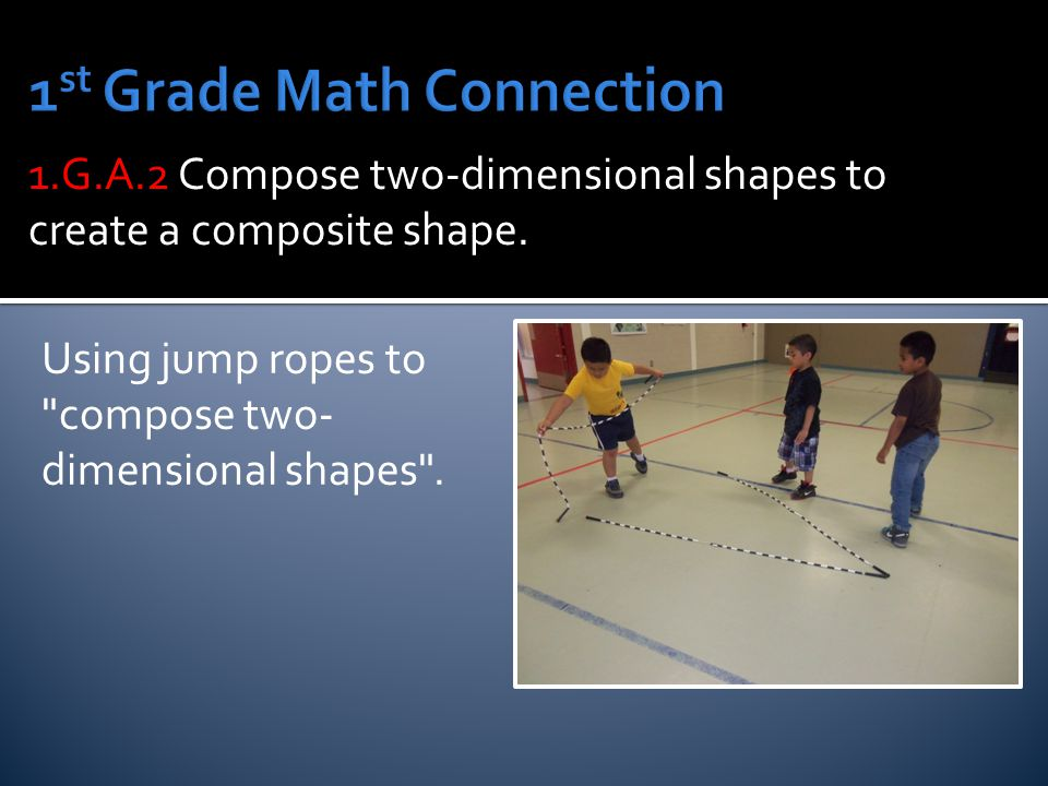 Using jump ropes to compose two- dimensional shapes .