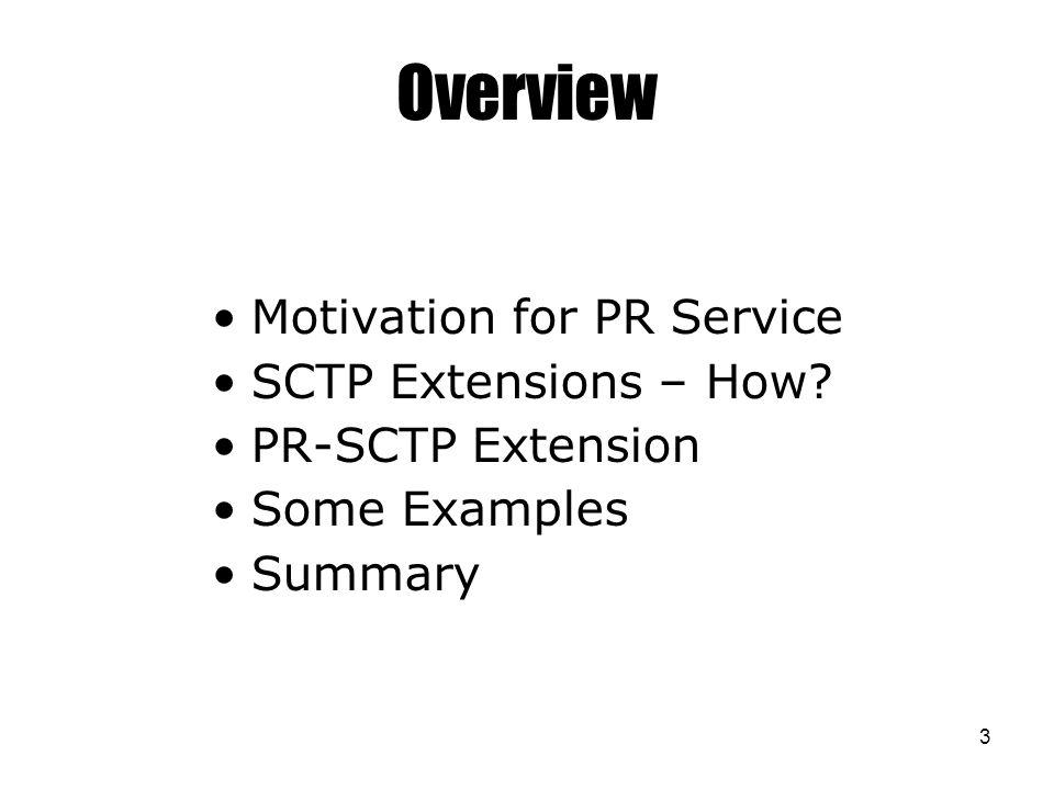 14 An Example – Actual PR-SCTP FWD TSN 3 Delivery 1 2 3 6-10 Lifetimes 1 2 3 4 10 9 8 4 5 7 3 6 5 2 2 2 2 2 3 3 FWD TSN 4 FWD TSN 5 4 10