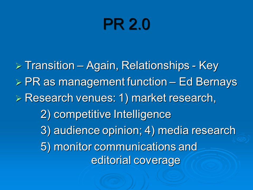 PR 2.0: Leaders Speak  Interviews with Edelman's VP Social Media  Tim Bray, Director, Web Technology, Sun Microsystems, everyone blogs Microsystems, everyone blogs  Stephen Johnston, Sr.