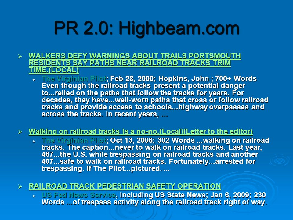 PR 2.0: Corne rbarp r.com  60,000 media contacts  Built on issues of import to PR  Features: Bar tools , grammar section  Perfect Pitch national media tips CEO Syndrome Top 10 Things I Wish the CEO Knew