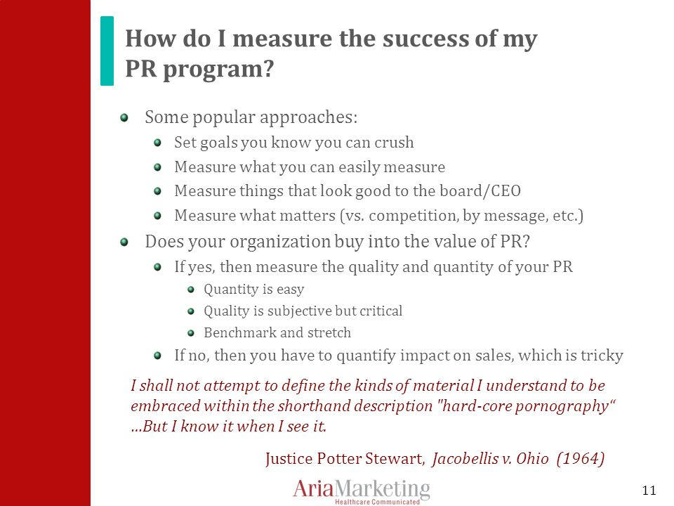 How do I measure the success of my PR program.
