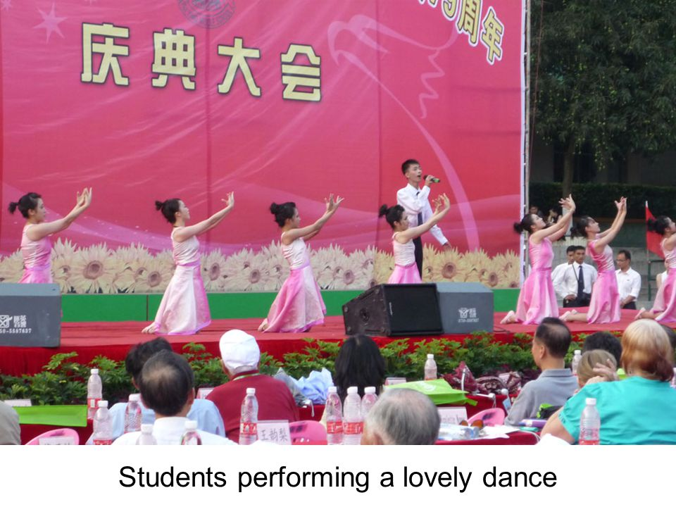Students performing a lovely dance