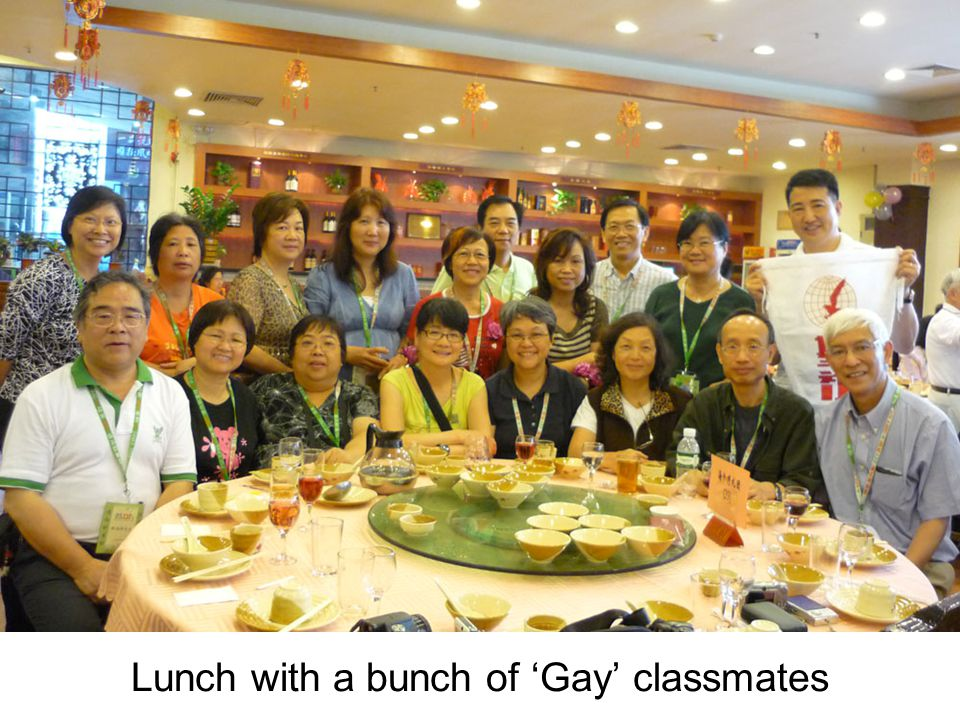 Lunch with a bunch of 'Gay' classmates