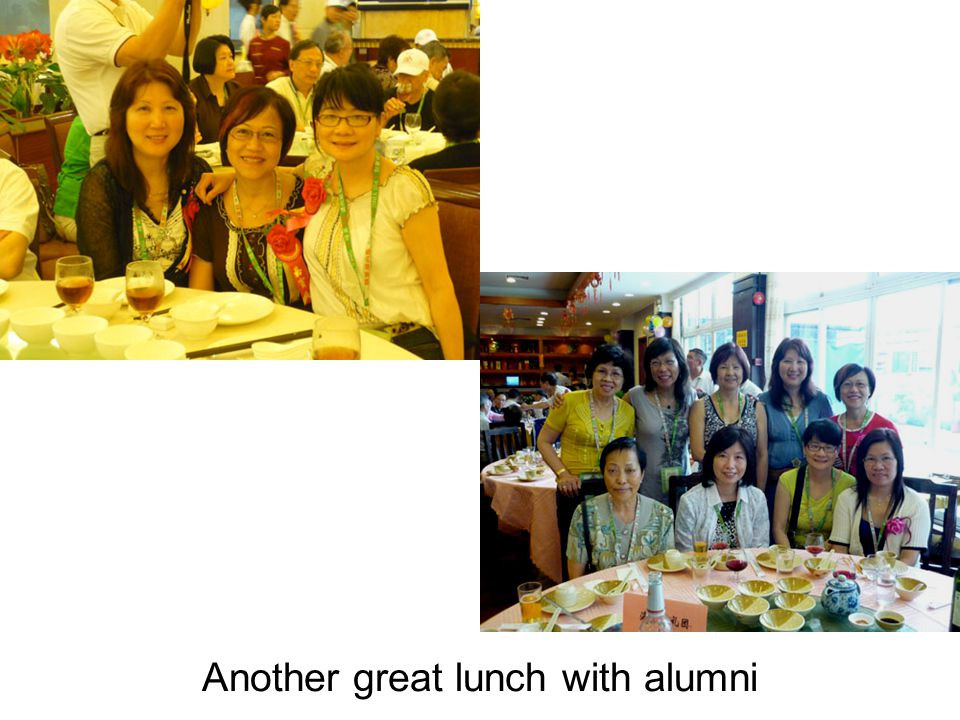 Another great lunch with alumni