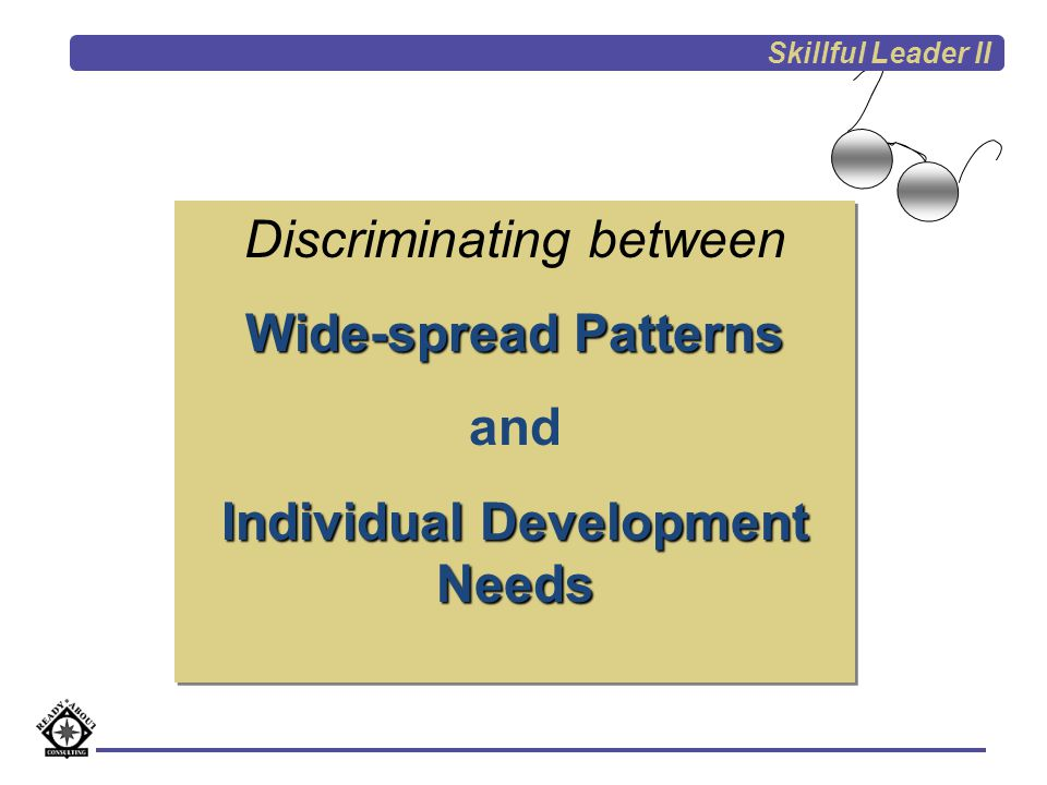 See a concern Check Other Classrooms Pattern across the district/ school Professional Development Characteristic of 2-3 individuals only Feedback to school Supervision and Evaluation Focused Improvement Skillful Leader II
