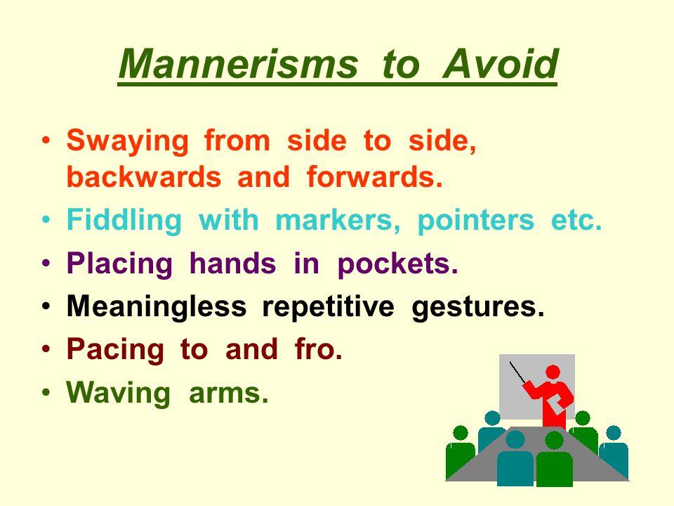 Gestures - Suggestions Vary gestures.Use appropriate gestures.