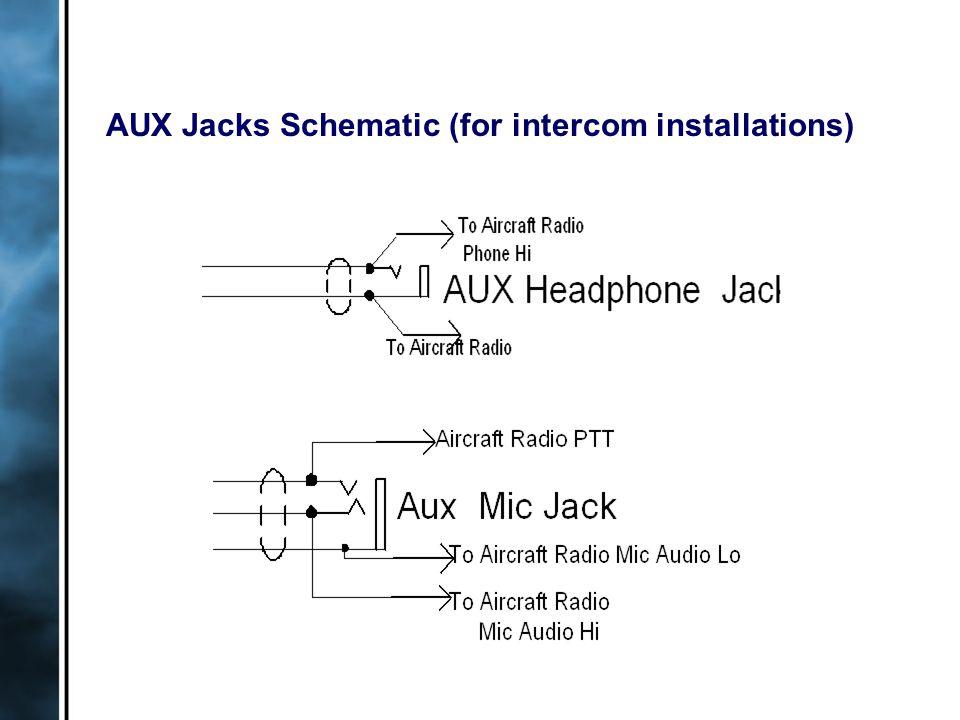 AUX Jacks Schematic (for intercom installations)