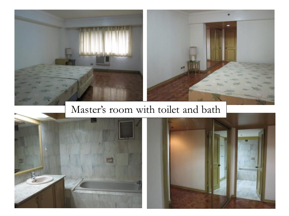 Master's room with toilet and bath