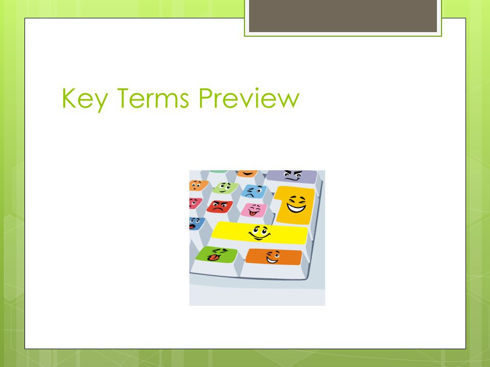 Key Terms Preview