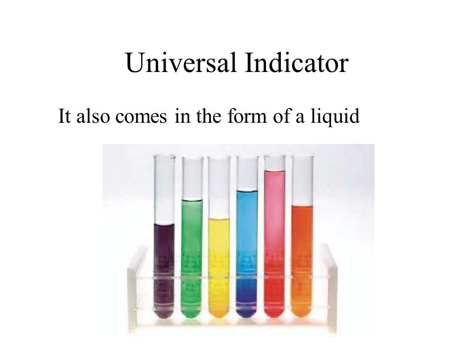 Measuring pH You are now going to measure the pH of various acids, alkalis and household liquids.