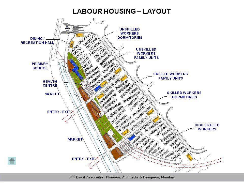P K Das & Associates, Planners, Architects & Designers, Mumbai Mahimtura Consultants Pvt. Ltd. LABOUR HOUSING – LAYOUT P K Das & Associates, Planners,