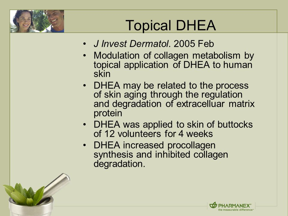 Topical DHEA J Invest Dermatol.