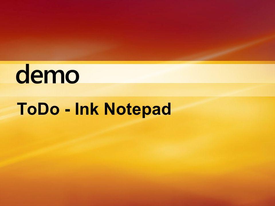 ToDo - Ink Notepad