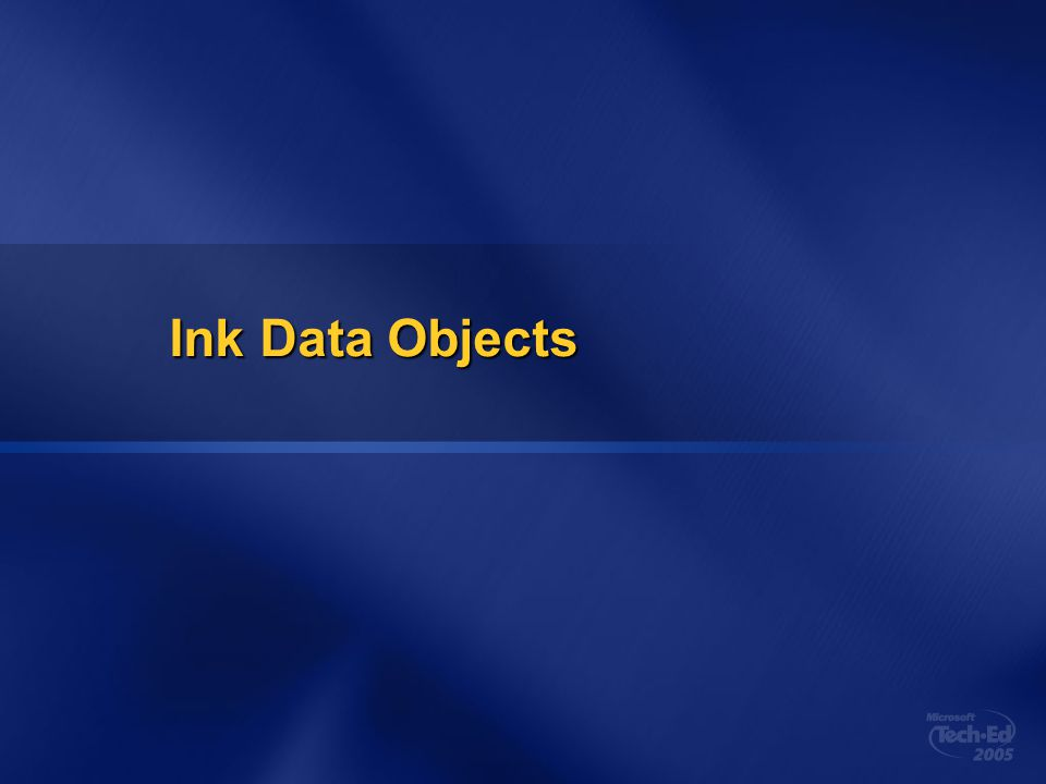 Ink Data Objects