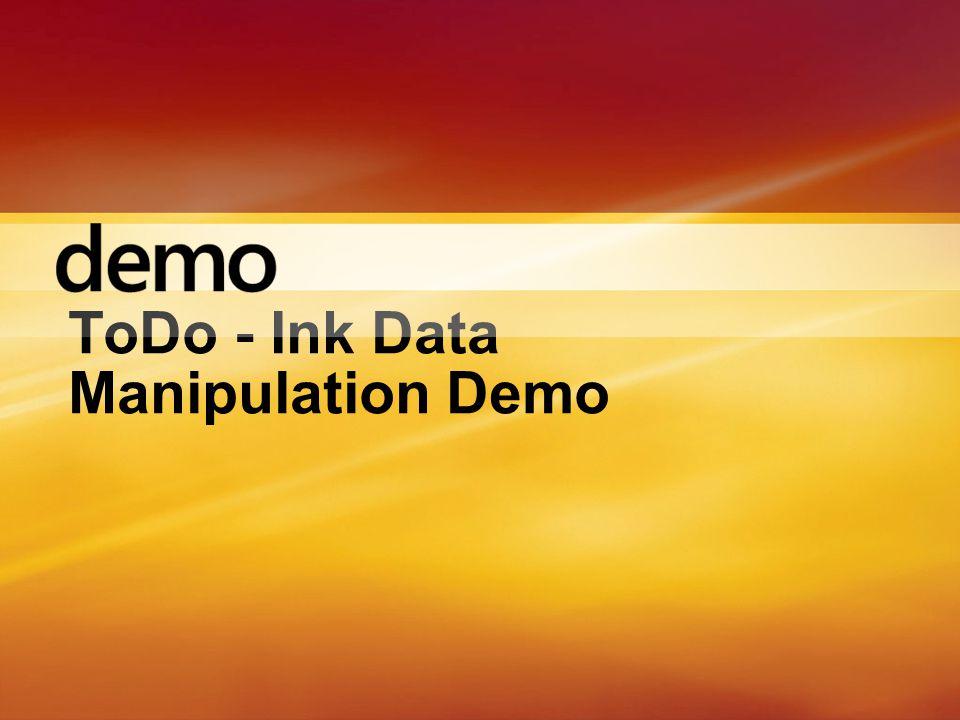 ToDo - Ink Data Manipulation Demo