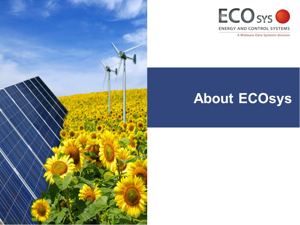  ECOsys is a division of Midware Data Systems  1998: Established as Midware Data Systems (formerly part of Mideast Data Systems Lebanon incepted in 1978) About ECOsys Solar Photovoltaic Solutions