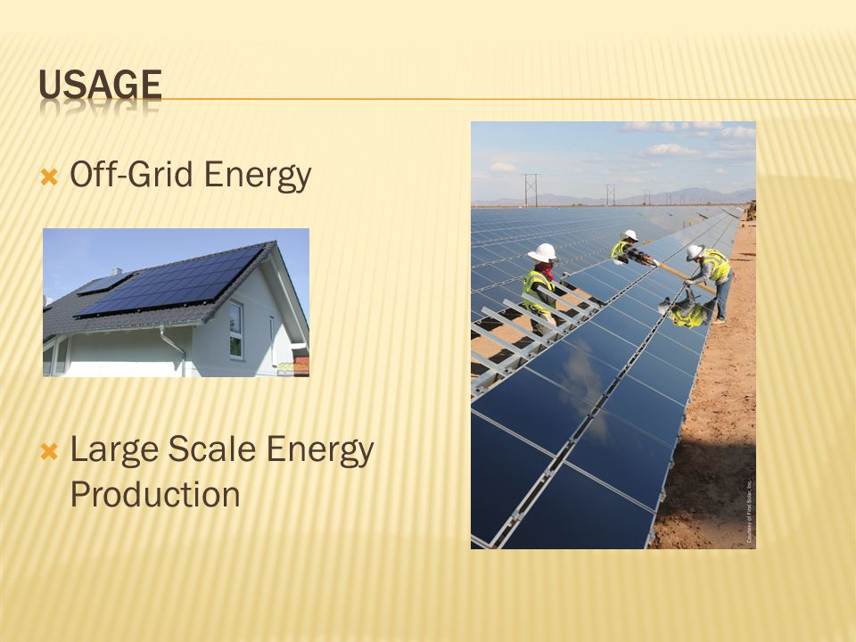  Off-Grid Energy  Large Scale Energy Production
