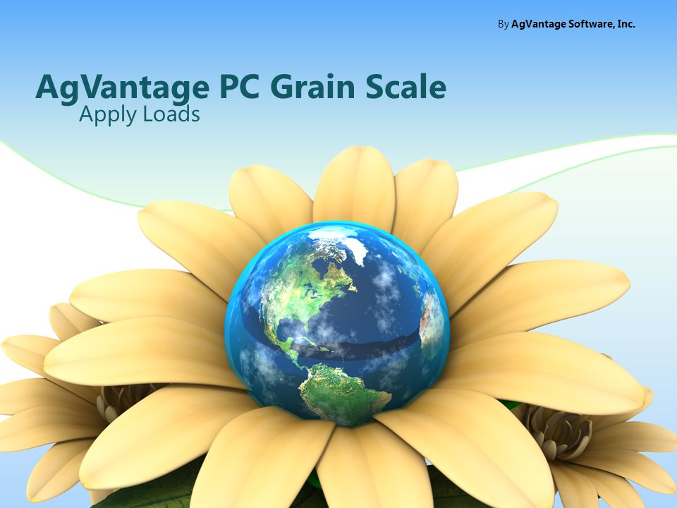 AgVantage PC Grain Scale Apply Loads By AgVantage Software, Inc.