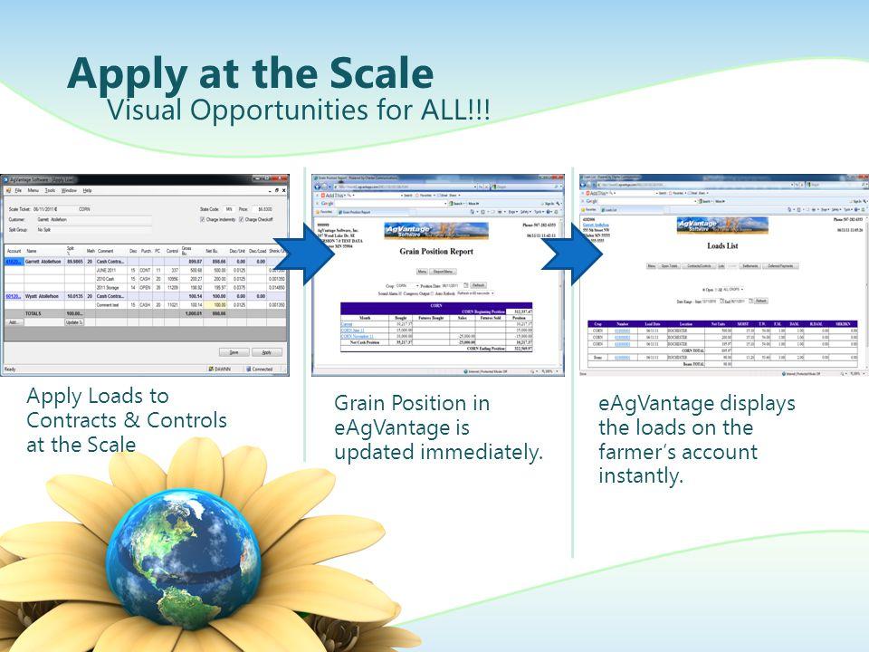 AgVantage PC Grain Scale More load selection views